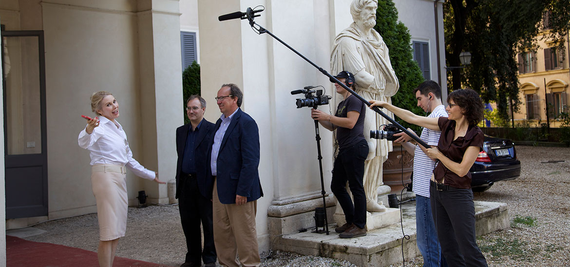 Filming Princess Rita at Villa Aurora