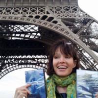 Dena in Paris with DVDs
